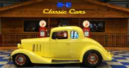 1933 CHEVROLET 5 WINDOW COUPE – SUNFIRE YELLOW