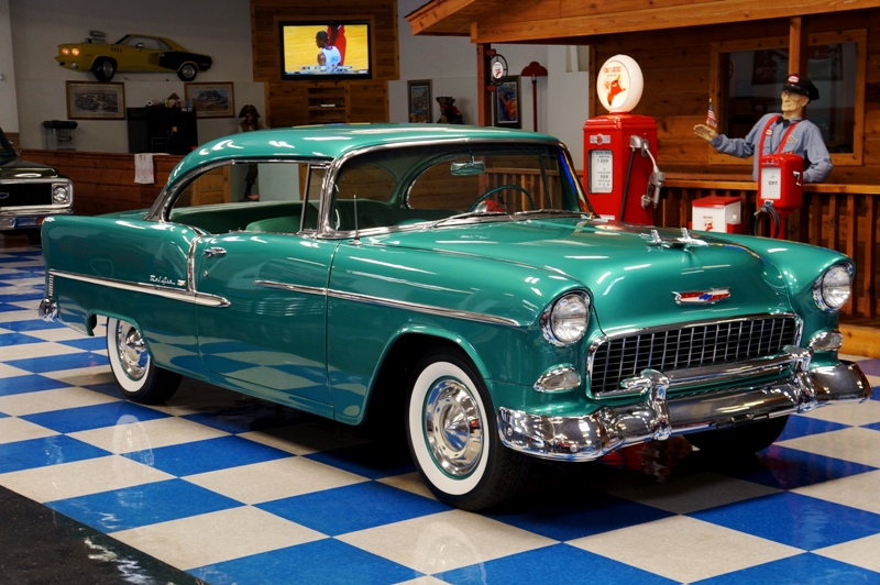 1955 CHEVROLET BEL AIR – NEPTUNE GREEN – Aamp;E Classic Cars