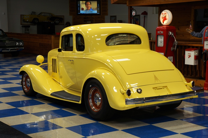 1933 chevrolet 5 window coupe sunfire yellow a e for 1933 chevy 5 window coupe