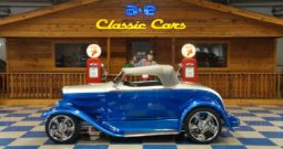 1930 FORD CUSTOM CABRIOLET STEEL BODY – METALLIC BLUE / SILVER