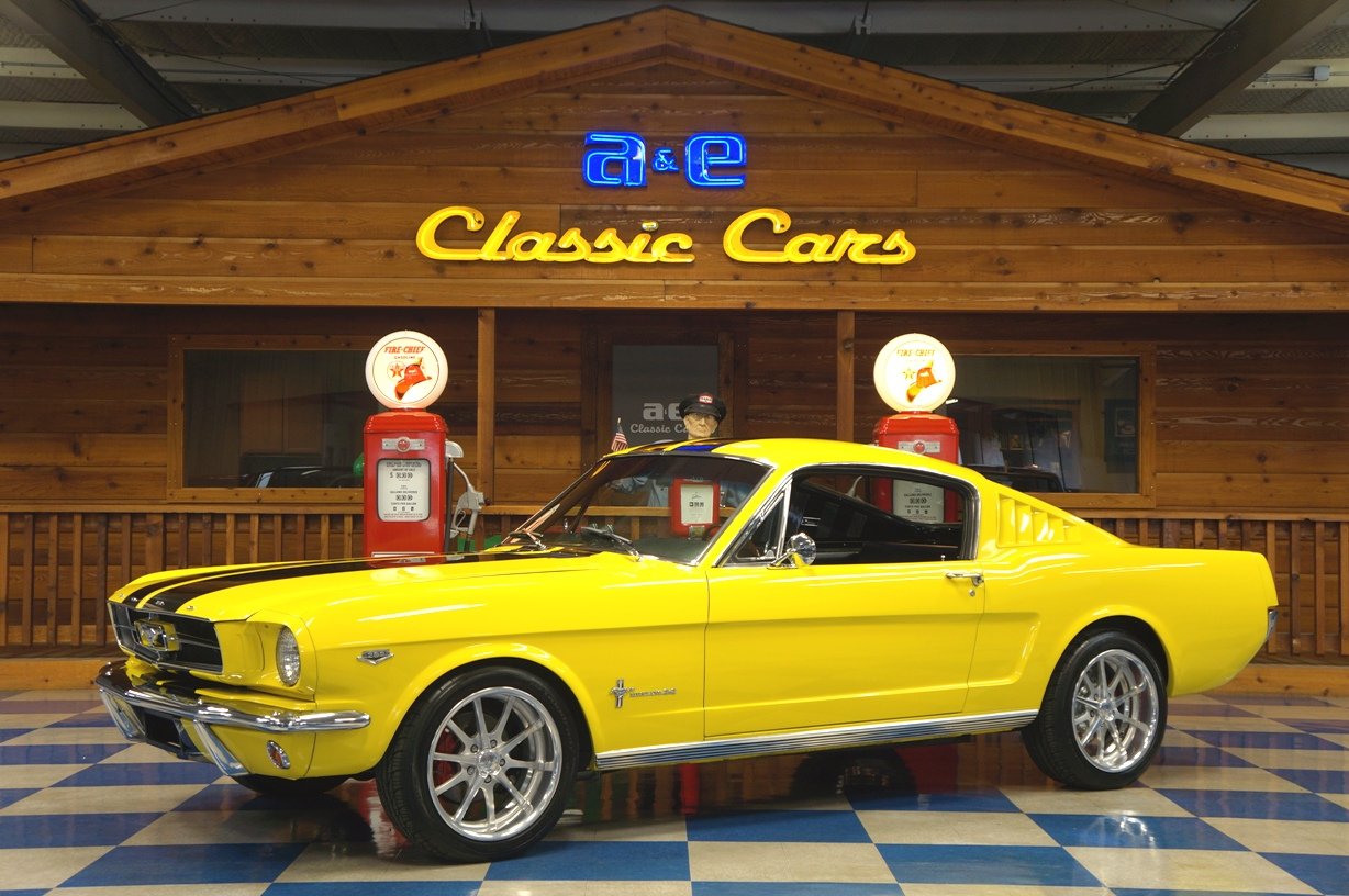 1965 ford mustang 2 2 fastback k code yellow black full