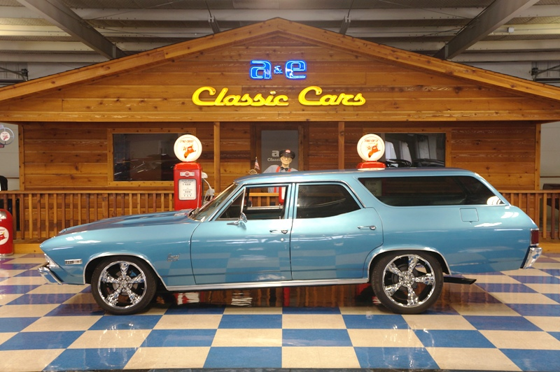 1968 chevrolet custom nomad grotto blue a e classic cars for Nomad scheduler