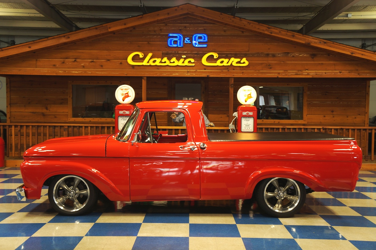 1961 Ford F100 Pickup Red Ae Classic Cars 1964 Truck Full