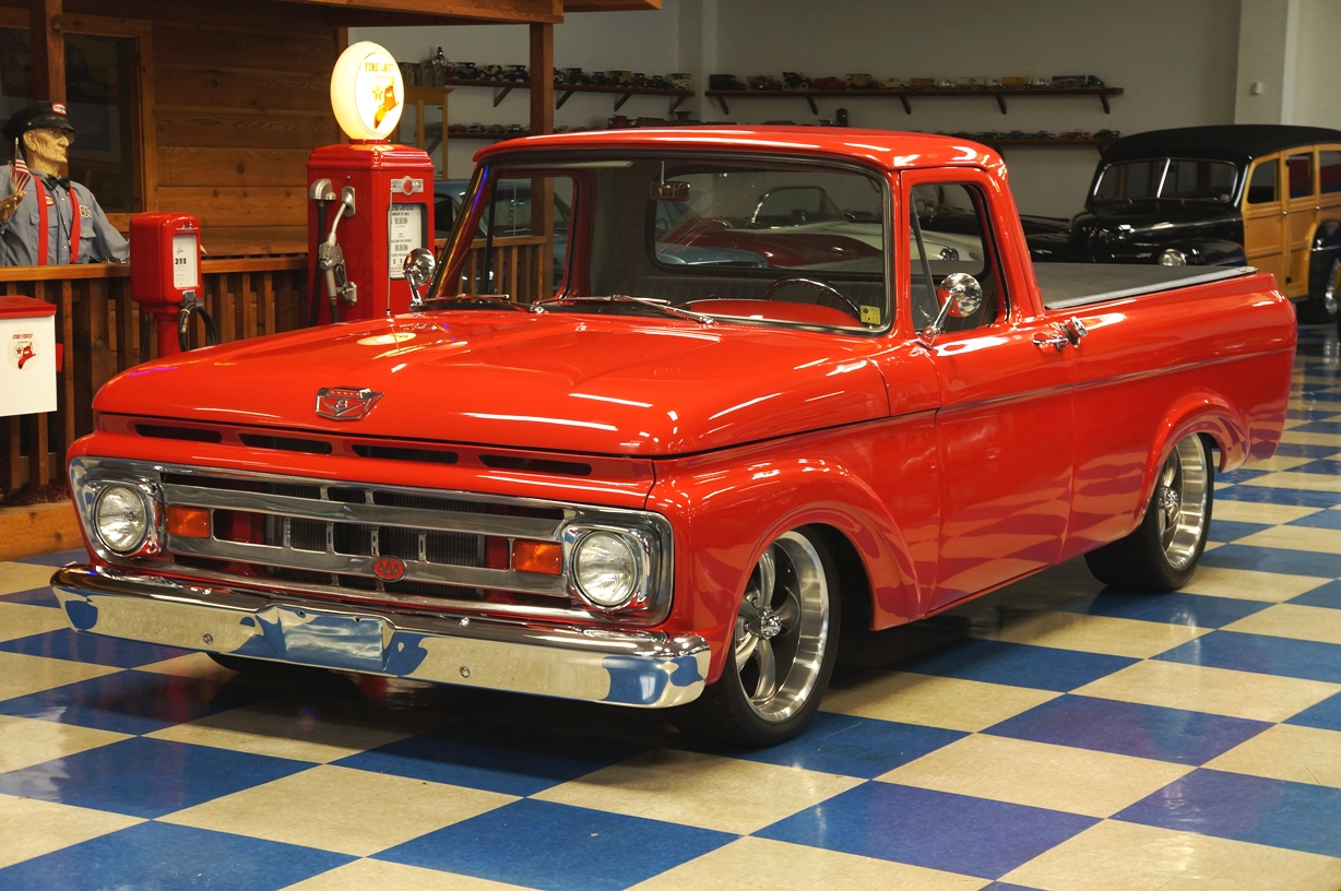 1961 ford f100 pickup red a e classic cars. Black Bedroom Furniture Sets. Home Design Ideas