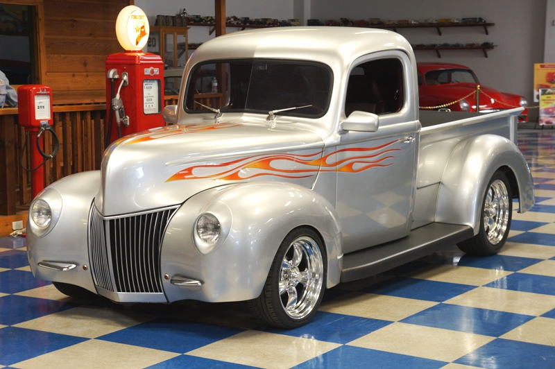 Ford Pickup Silver Flames A E Classic Cars