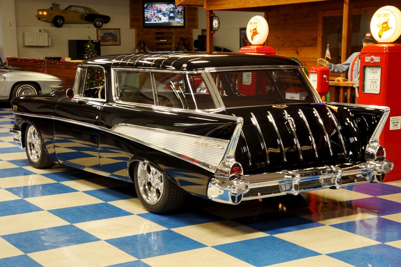 1957 chevrolet nomad deep black a e classic cars for Nomad scheduler