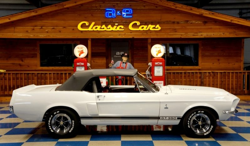 "1968 FORD MUSTANG CONVERTIBLE SHELBY GT350 ""TRIBUTE"" – WHITE / BLACK full"