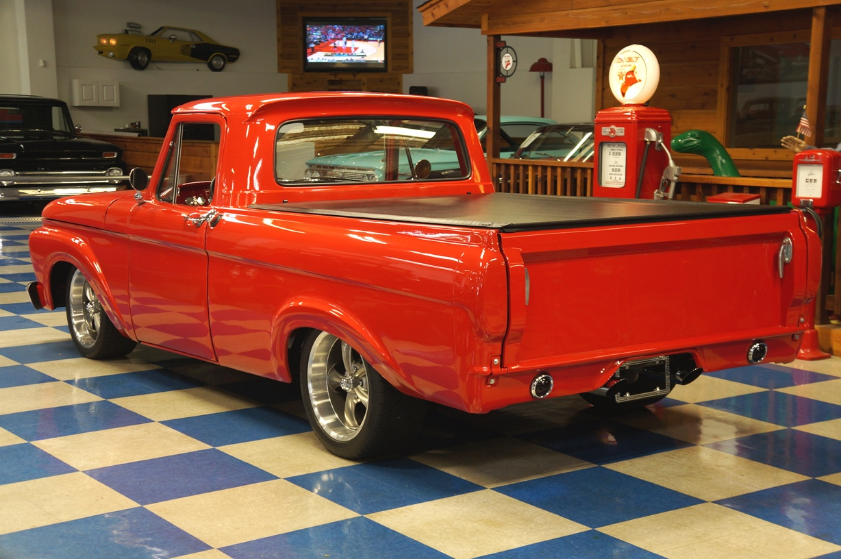 1961 Ford F100 Pickup Red Ae Classic Cars Pick Up Full