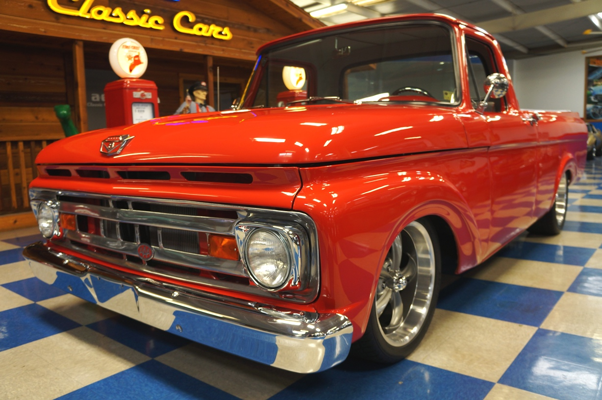 1961 Ford F100 Pickup Red A Amp E Classic Cars
