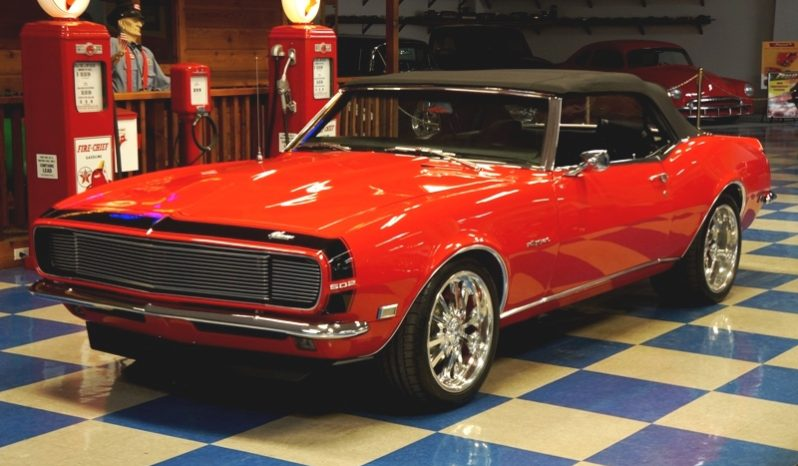 1968 CHEVROLET CAMARO CONVERTIBLE PRO-TOURING – RED / BLACK full