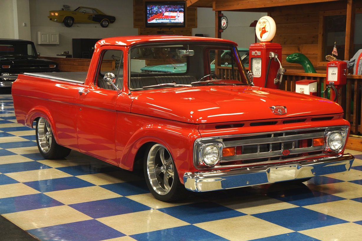 1961 FORD F100 PICKUP – RED – A&E Classic Cars