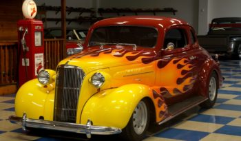 1937 CHEVROLET COUPE ALL STEEL – BURGUNDY / FLAMES full