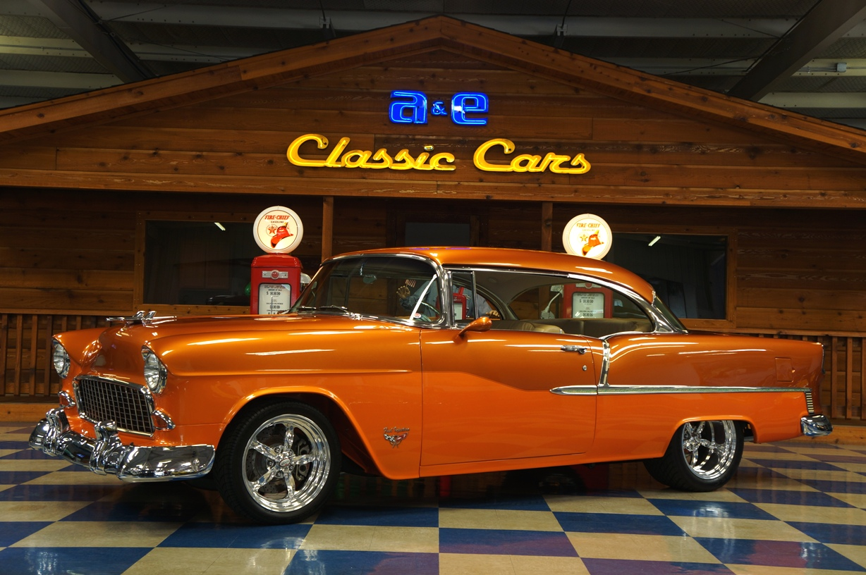 1955 Chevrolet Bel Air F I Ppg Copper Tangerine Pearl