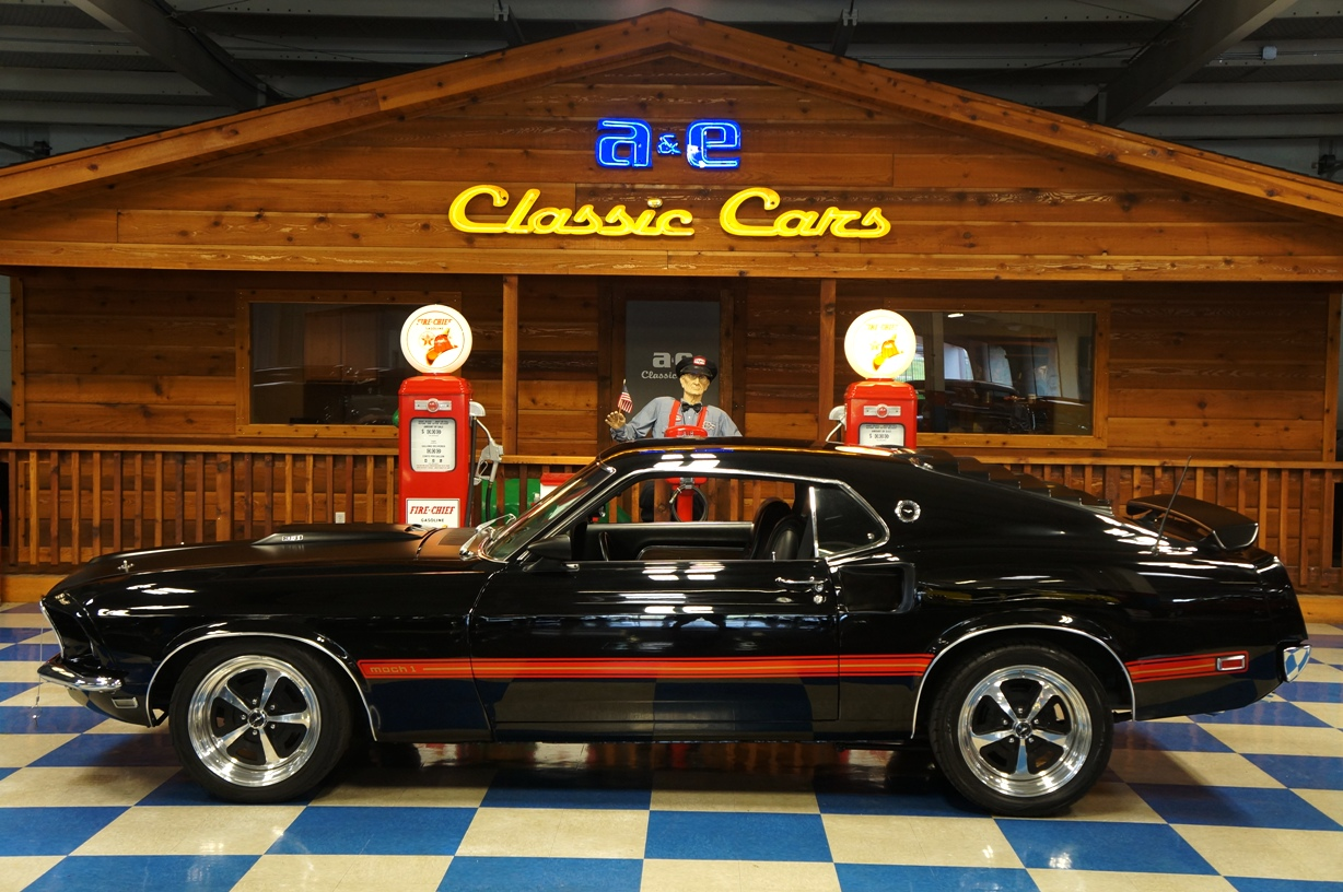 2016 Mustang Mach 1 >> 1969 Ford Mustang Mach 1 – Black / Red – A&E Classic Cars