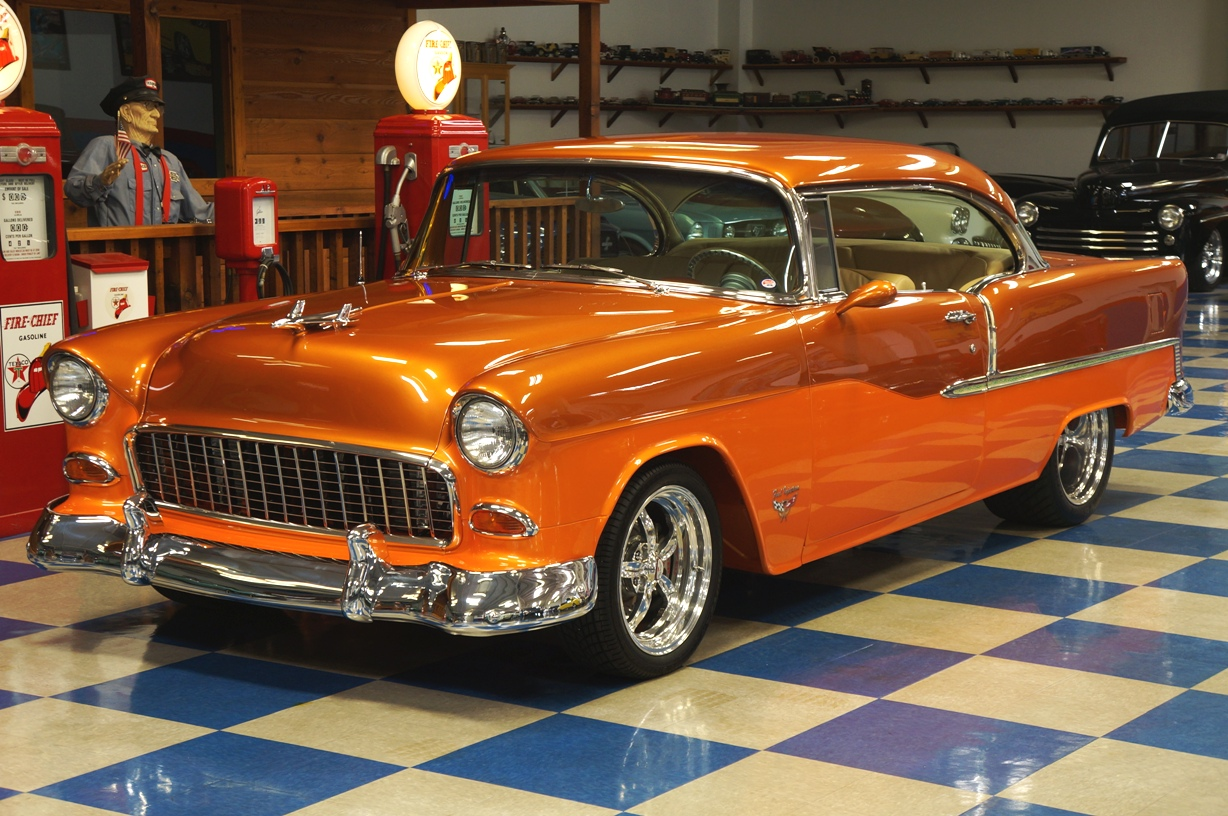 1955 Chevrolet Bel Air F.I. – PPG Copper / Tangerine Pearl – A&E ...