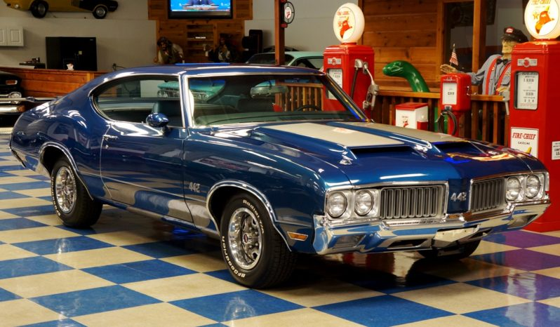 1970 Oldsmobile 442 – Twilight Blue / Silver full