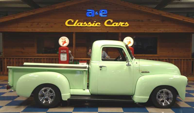 1949 Chevrolet 3 Window Pickup – Celery Stock Green full