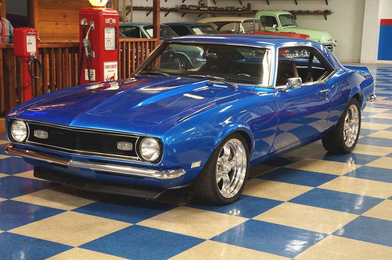 1968 Chevrolet Camaro 383 Blue Ghost Flames A E Classic Cars