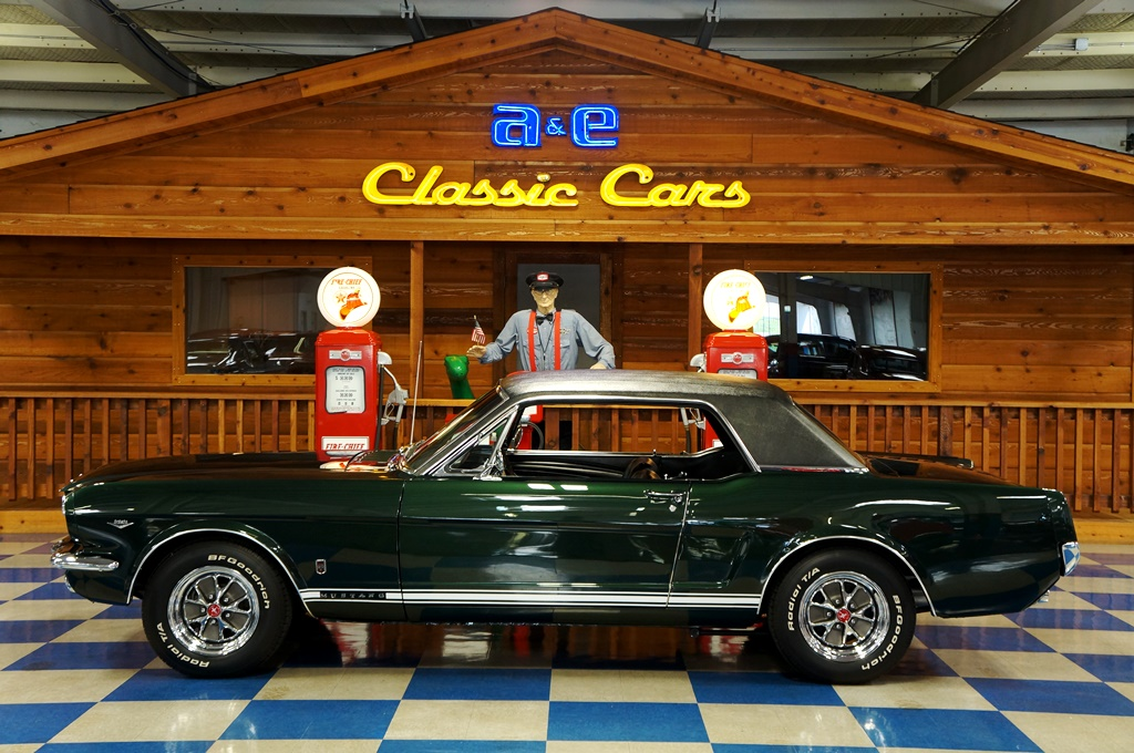 1966 Ford Mustang GT Coupe – Ivy Green / Black – A&E Classic Cars