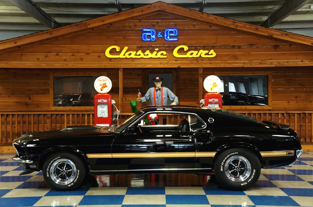 1969 Ford Mustang Mach 1 – Black – A&E Classic Cars