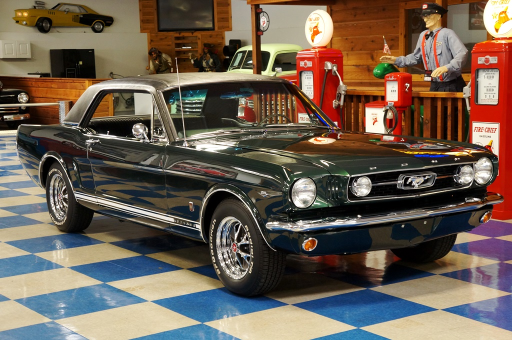 1966 Ford Mustang GT Coupe U2013 Ivy Green / Black Full