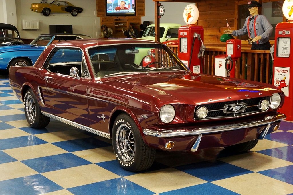1965 Ford Mustang Coupe Maroon A Amp E Classic Cars