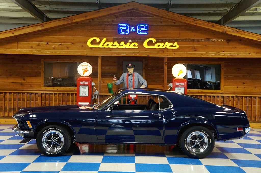 1970 Ford Mustang Fastback Blue A Amp E Classic Cars