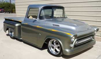 "1957 Chevrolet Custom Pickup AKA ""AMEN"" – Ultra Silver / Silver Green full"
