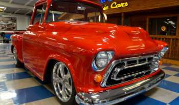 1957 Chevrolet Pickup Resto Mod Vortec – Red / Flames full