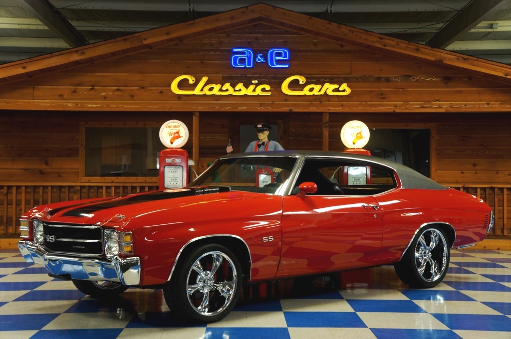 1971 Chevrolet Chevelle SS w/ Build Sheet – Cranberry Red / Black