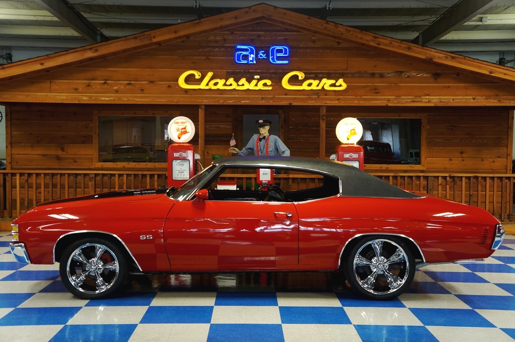 1971 Chevrolet Chevelle SS w/ Build Sheet – Cranberry Red / Black ...