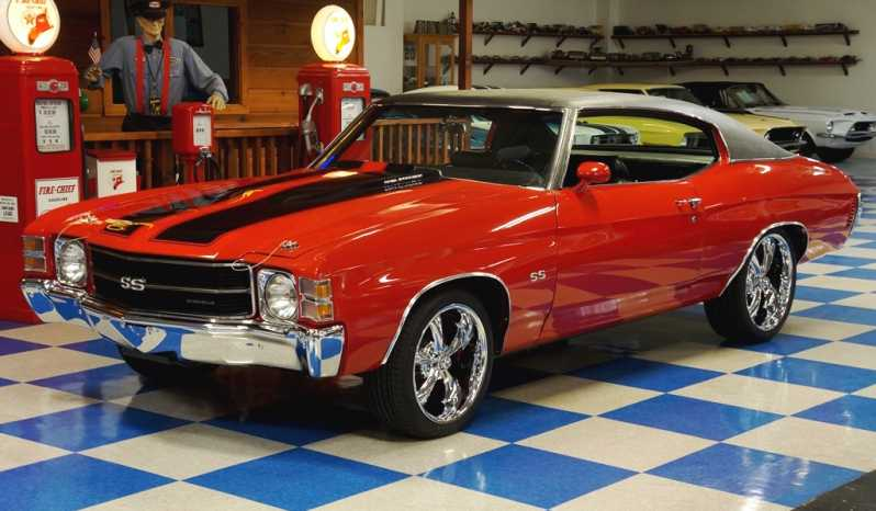 1971 Chevrolet Chevelle SS w/ Build Sheet – Cranberry Red / Black full