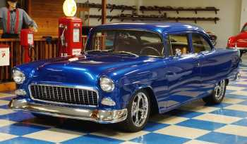 1955 Chevrolet 150 2dr Post – Blue full