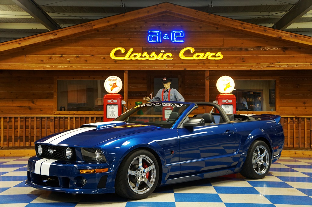 2006 Ford Mustang Convertible Roush Stage 3 Low Miles Blue White Black Full