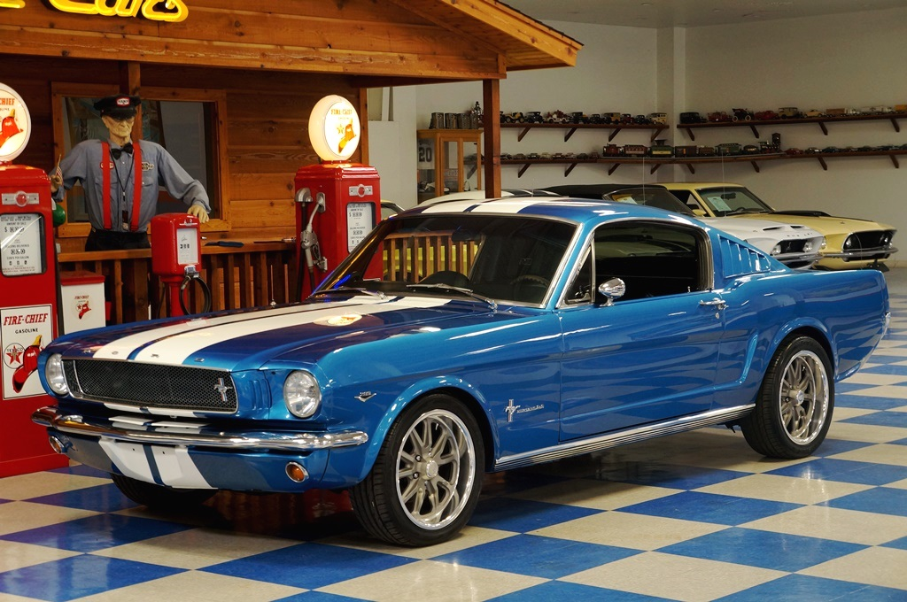 1965 Ford Mustang Fastback 2+2 – Metallic Blue / White – A ...
