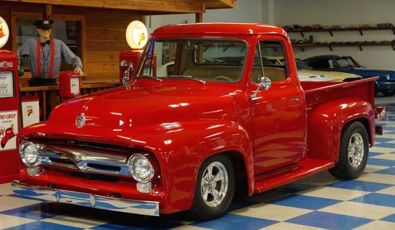 1955 Ford F100 Pickup – Red Metallic full