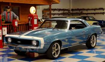 1969 Chevrolet Camaro – Blue / White full