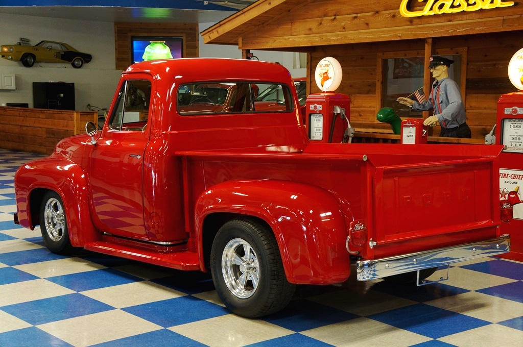 1955 Ford F100 Pickup Red Metallic A Amp E Classic Cars