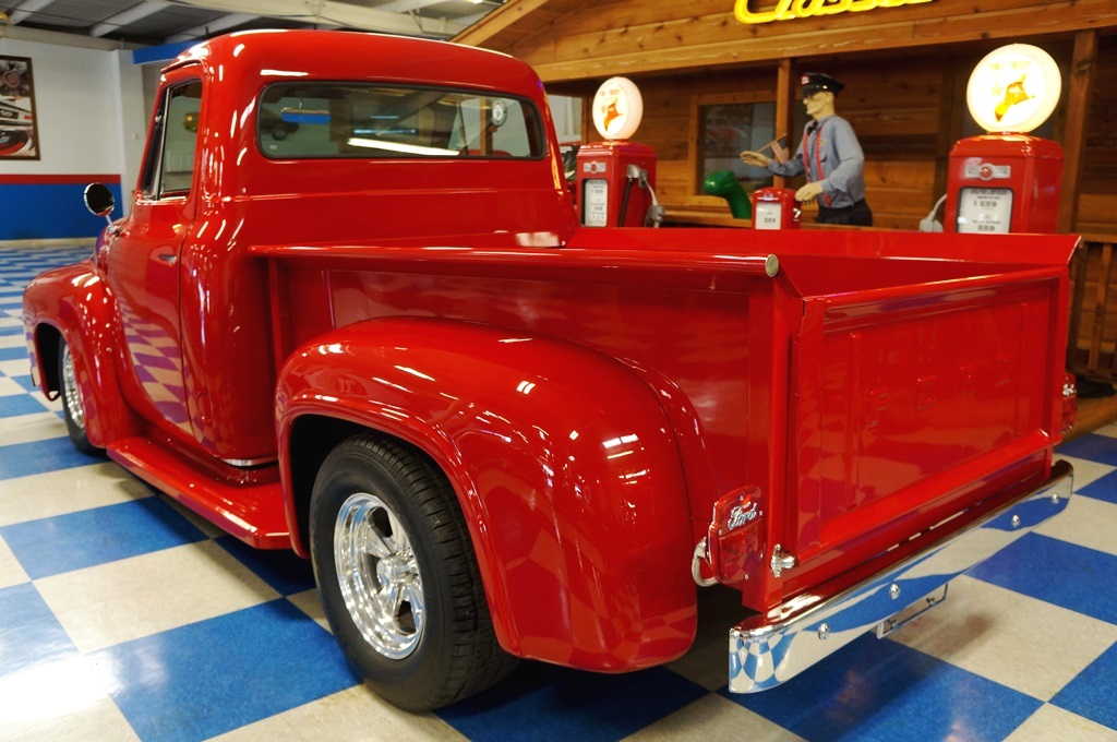 Peachy 1955 Ford F100 Pickup Red Metallic Ae Classic Cars Dailytribune Chair Design For Home Dailytribuneorg