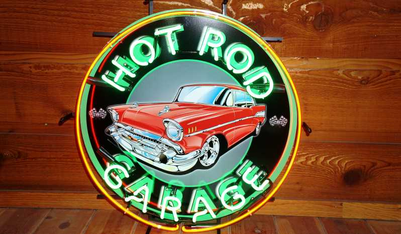 "1957 Chevrolet ""Hot Rod Garage"" Neon Sign full"