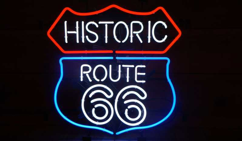 """Historic Route 66"" Neon Sign full"