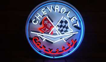 """Chevrolet Corvette"" Neon Sign full"