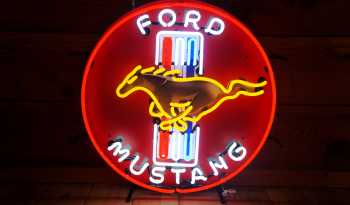 """Ford Mustang"" Neon sign full"