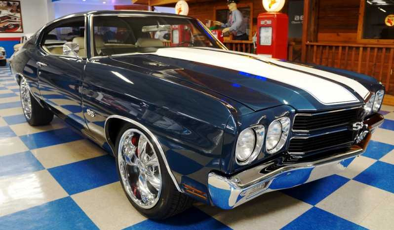 1970 Chevrolet Chevelle Resto Mod LS1 – Blue Metallic / White full