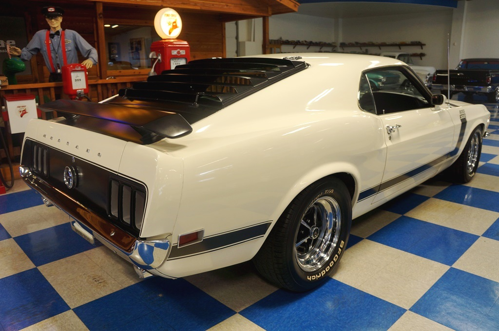 1970 Ford Mustang Boss 302 White Black A Amp E Classic Cars