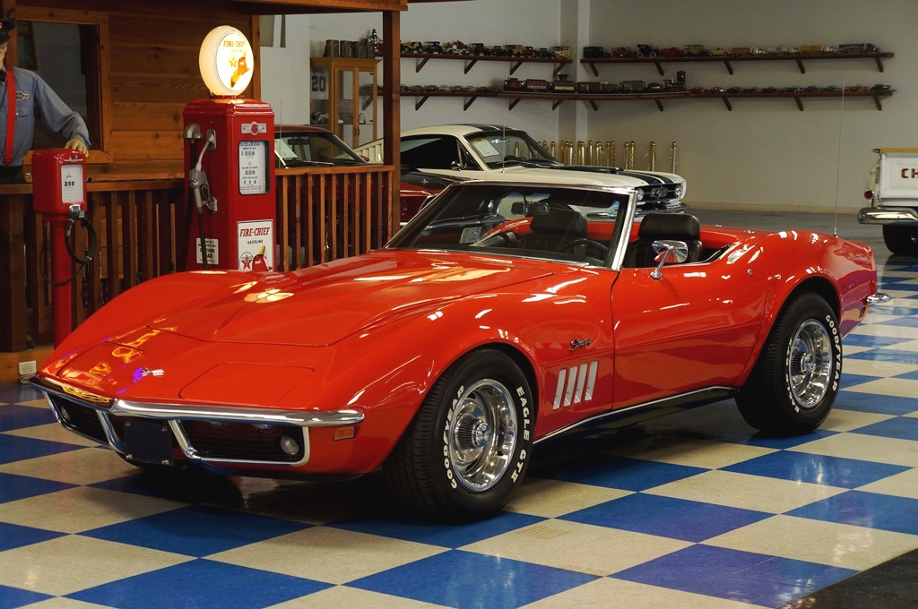 1969 Chevrolet Corvette Convertible Numbers Matching Red Black A E Classic Cars