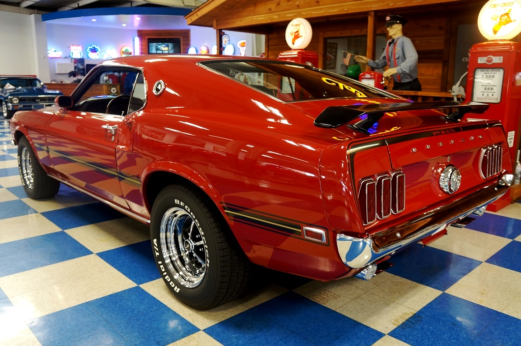 1969 Ford Mustang Mach 1 – Red / Black – A&E Classic Cars