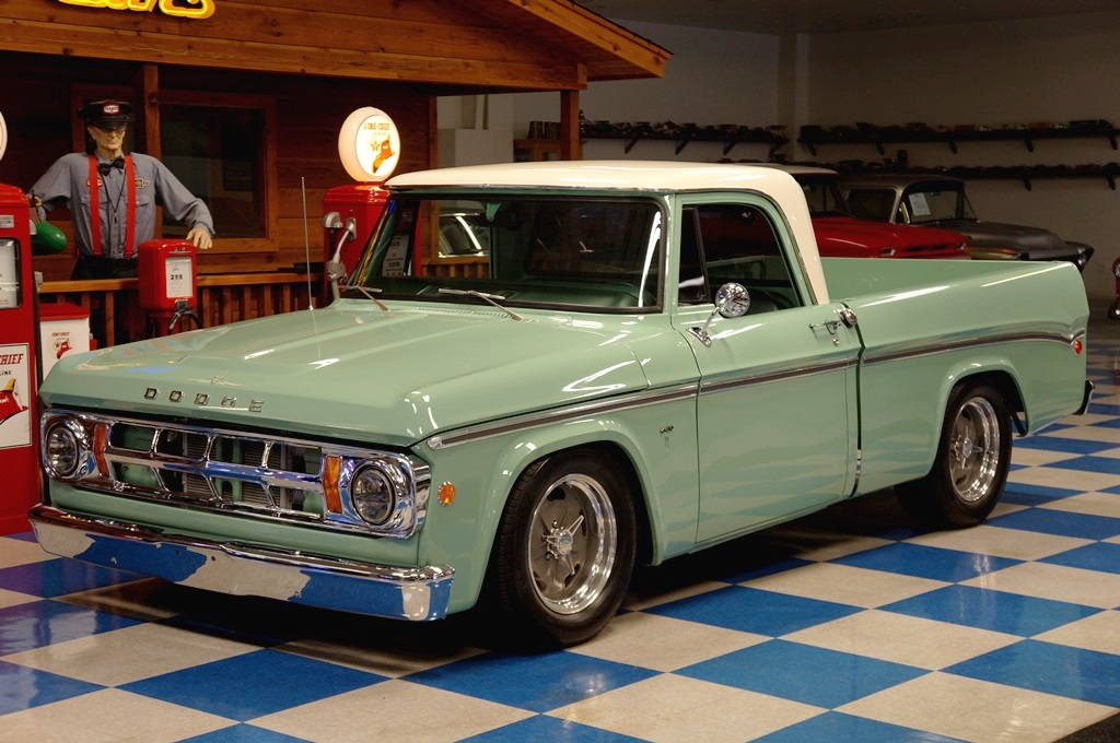1969 Dodge D100 Pickup Green White A Amp E Classic Cars