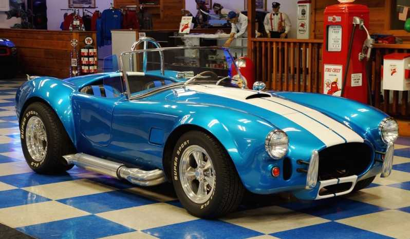 1965 Shelby Cobra Replica – Metallic Blue / White full