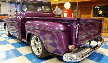 1956 Chevrolet 3100 Big Window Stepside Pickup – Orchid Purple / Meteor Graphite Gray full